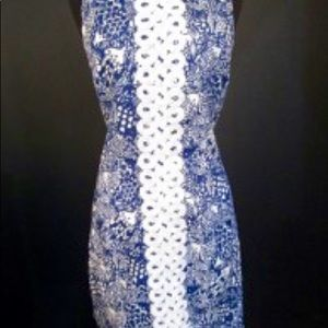 """NWT Lilly P. Navy & White """"Fish"""" Dress Size 10"""