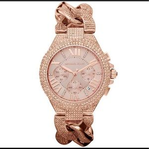 Michael Kors Camille Crystal Rose Gold Watch