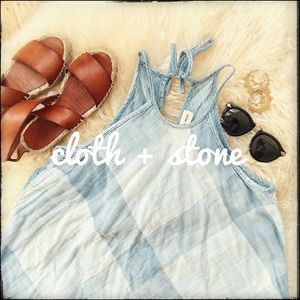 Cloth + Stone Swing Halter Tie Neck Top - Small