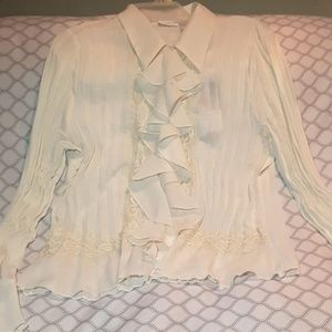 Off white peasant blouse size Large 12/14