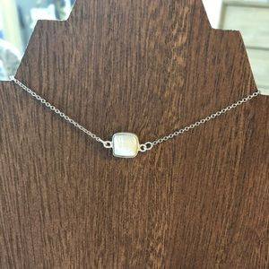 Sterling Silver Dainty Pearl Necklace