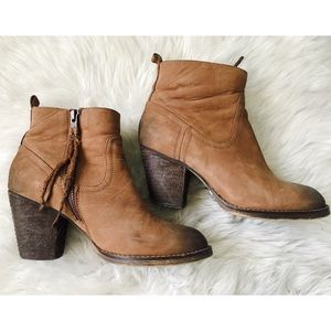 Fall Leather Ankle Booties. 36/6 Buffalo London