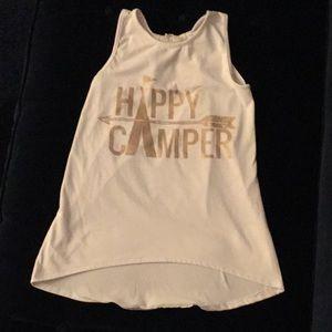 Size 8 between happy camper tank top.