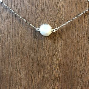 Sterling Silver Round Pearl Necklace