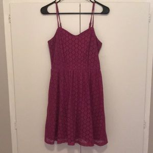 Lace sundress with pockets