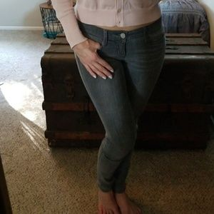 sexy gray Bebe jeggings size 26