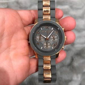 Grey and rose gold Michael Kors watch