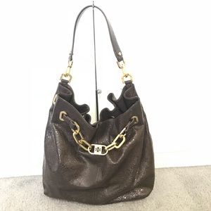 Tory Burch Natalya Crackled Leather Tote