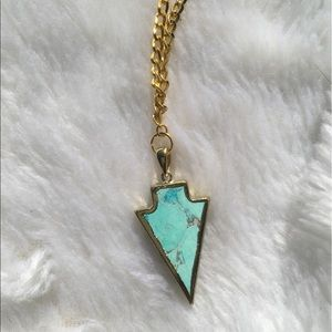 Black Friday•Blue Marble Arrow Chain Necklace