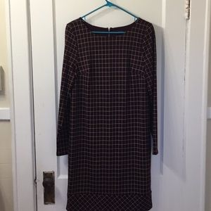 Maroon print dress from The Limited