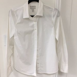 J.Crew white cotton stretch blouse