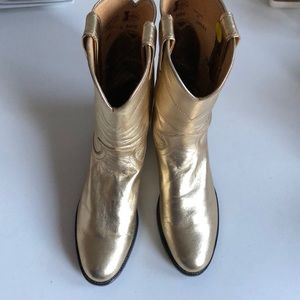 Gold Justin Boots