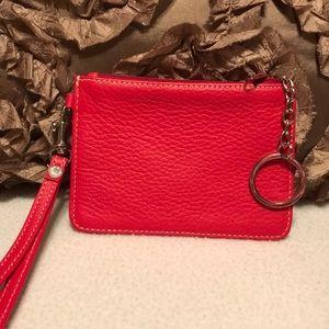 Dooney & Bourke Red Leather wristlet/ key chain