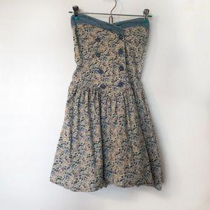 Floral Strapless Sailor Dress