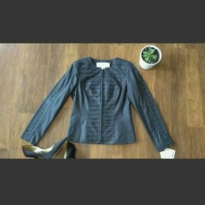 Doncaster Mock Scale Pattern Dark Grey Blazer