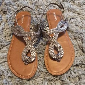 Silver accented sandals