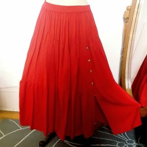 Vintage Cotton Texas Festival Twirl Skirt Sz S/M