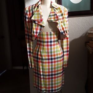 Lavantino 90's Vintage High Waisted Skirt Suit