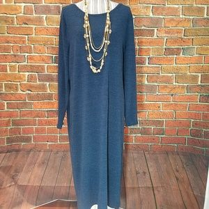 Old Navy blue midi sweater dress