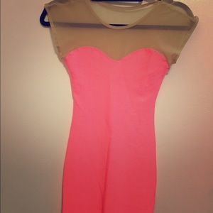 American Apparel Hot Pink Dress