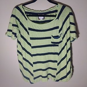 Anthropologie Striped Linen Top