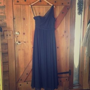 Alfred Angelo One Shoulder Navy Bridesmaid Dress