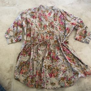 Gray & Floral Tunic from World Market