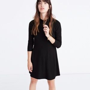 Madewell Ribbed Black Longsleeve Dress