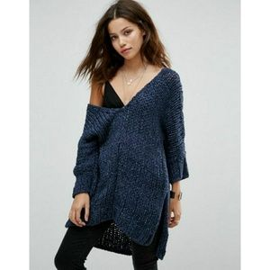 🆕Free People Georgia V Knit Sweater