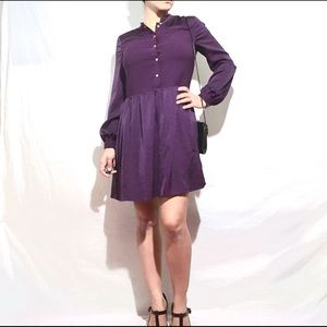 Juicy Couture Purple Long Sleeve Dress