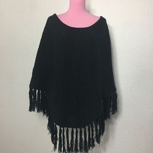 Calvin Klein Jeans knitted poncho