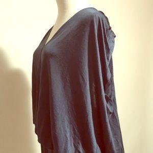 Designer sample navy goddess dress size L