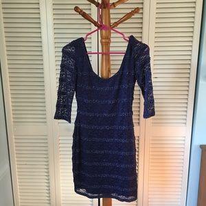 Guess plum-colored mini dress