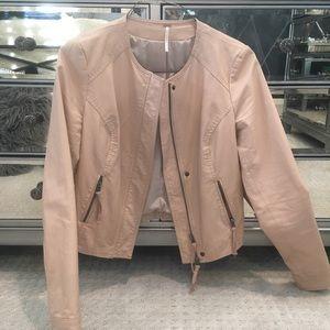 Free People - Pink Leather Jacket