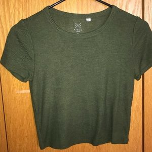 Pacsun olive green crop top