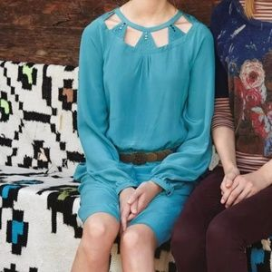 Anthropologie Long Sleeve Studded Tunic Dress