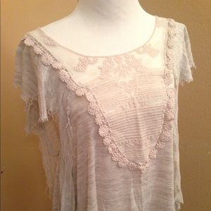 Free People boho chic asymmetrical top size small