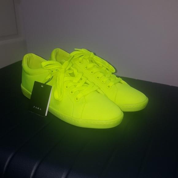 Zara Shoes   Zara Neon Yellow Sneakers