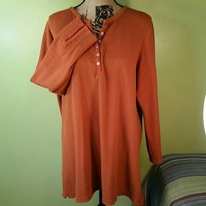 1X Romans Terracotta Henley Thermal Shirt