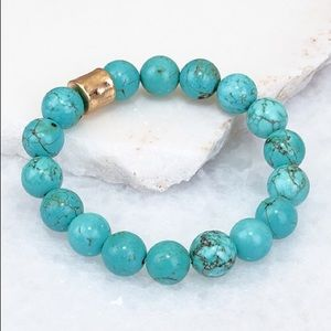 Natural Stone Turquoise Stackable Stretch Bracelet