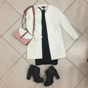 H&M white open coat/jacket size 4. Great condition