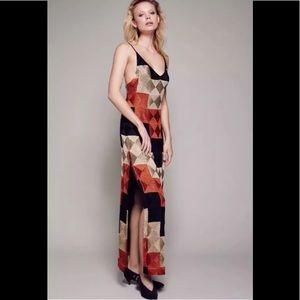 Free people Deco dreams maxi dress multi colors