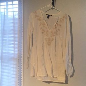 White Lucky Brand Tunic