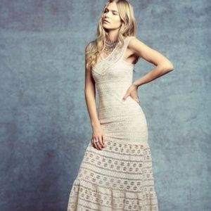 NWOT Nightcap Free People cream lace gown