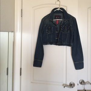 Star Jean Crop Jacket sz m