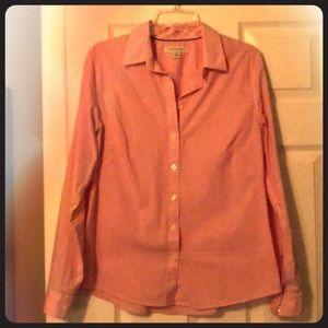 Banana Republic Pink Stretch Button-up Shirt