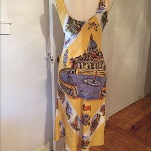 Tibi Nordstrom Italian postcard silk dress L 10-12