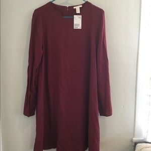 Red Swing Dress with Buttons