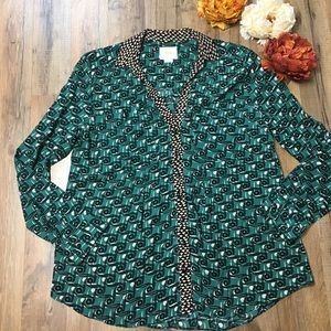 Anthropologie Maeve Patterned Blouse