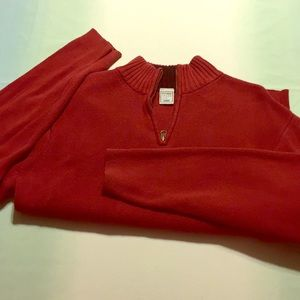 Men's red 1/4 zip Old Navy Sweater sz Large